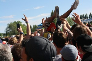 Get ready to crowd surf this summer (photo Megan Cole).