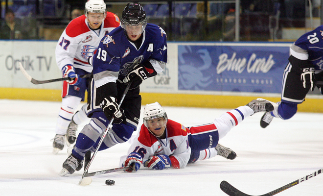 Look for forward Logan Nelson to lead the Royals team in offence this year (photo by Jon Howe/Victoria Royals).