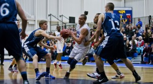 Third-year Camosun Chargers forward James Giuffre during the team's home opener on November 14 (photo by Kevin Light).