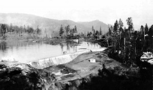 An archival photo of the Humpback reservoir, located in Sooke, upon completion in 1915 (photo provided).