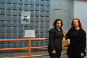 Camosun visual arts student Aileen Penner (left) and instructor Nancy Yakimoski are facilitating the college's Art-Poem-Art Experiment (photo by Jill Westby/Nexus).