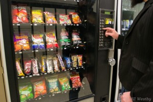 A look inside one of Camosun's vending machines (photo by Jill Westby/Nexus).