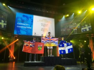 Camosun student Jake Schuttinga recently won a national gold medal at a Skills Canada competition (photo provided).